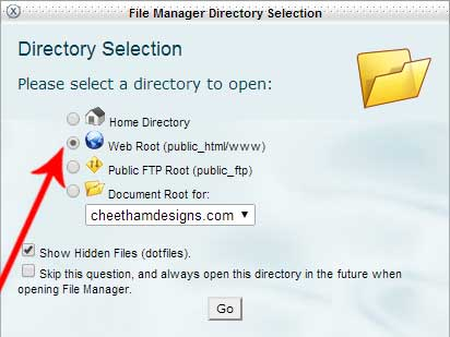 Web Root directory